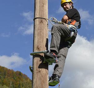Wooden Pole Climbing